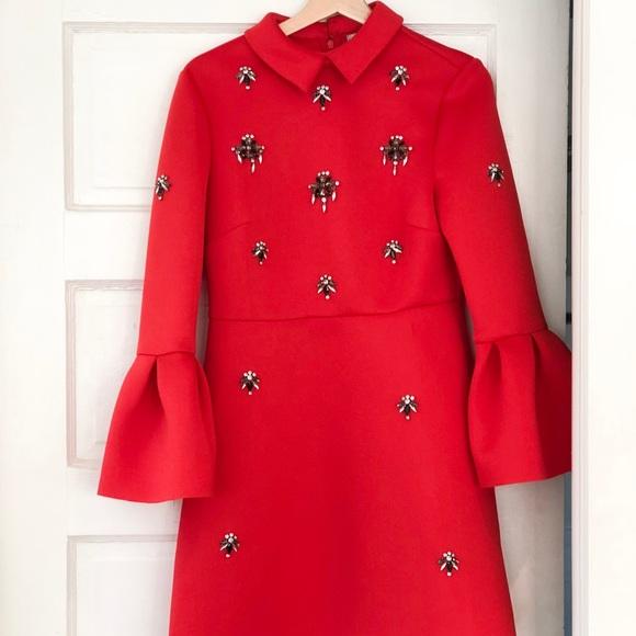 b0dfed9dca5 ASOS Scuba Embellished A-Line Mini Dress